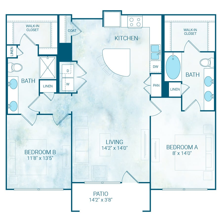 B4 Flex floor plan