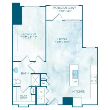 Rendering of the A10S floor plan layout