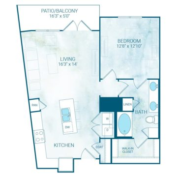 Apartment 4216 floor plan
