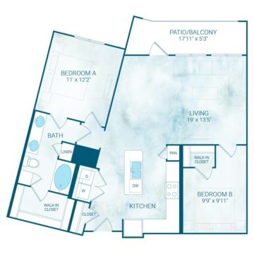 Apartment 1214 floor plan