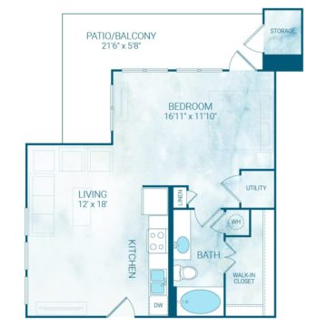 Apartment 1218 floor plan