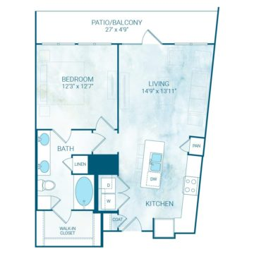 Apartment 4318 floor plan