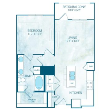 Apartment 4332 floor plan