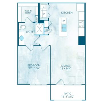 Apartment 1112 floor plan