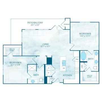 Apartment 4002 floor plan