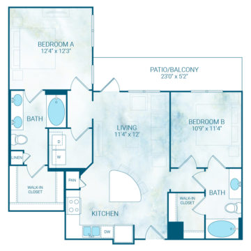 Apartment 1331 floor plan