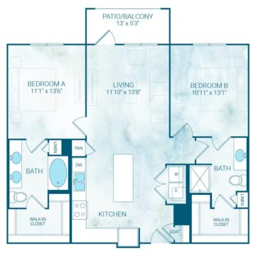 Apartment 2304 floor plan