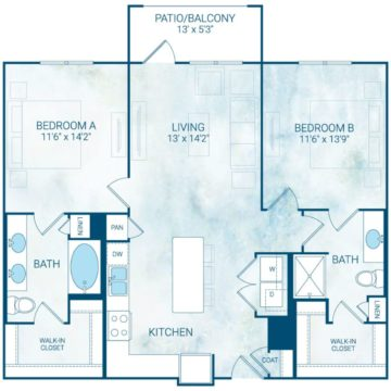 Apartment 2204 floor plan